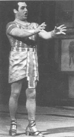 Jussi as Radamès, on stage 12 October 1935