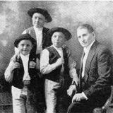 Björlingkvartetten 1921. Fr. v. Gösta, Jussi, Olle och fadern, David Björling.